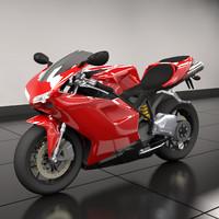ducati 848 motorcycle obj