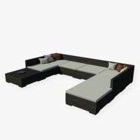 free max model realistic garden sofa