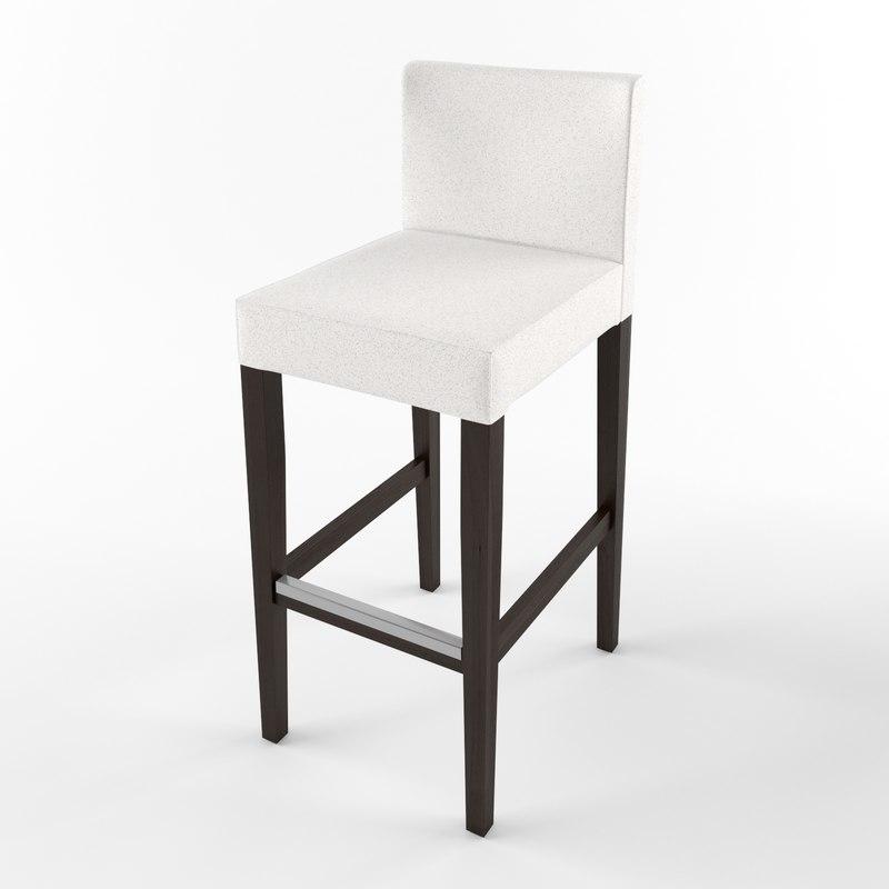 ikea henriksdal bar stool 3d max
