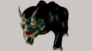 3d model horned monster