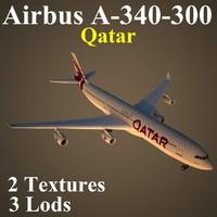3ds max airbus qatar qtr