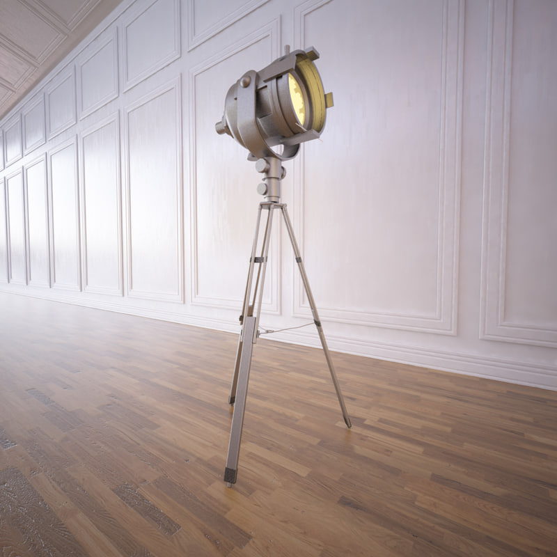 tripod spotlight 3d model