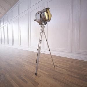 tripod spotlight 3d model
