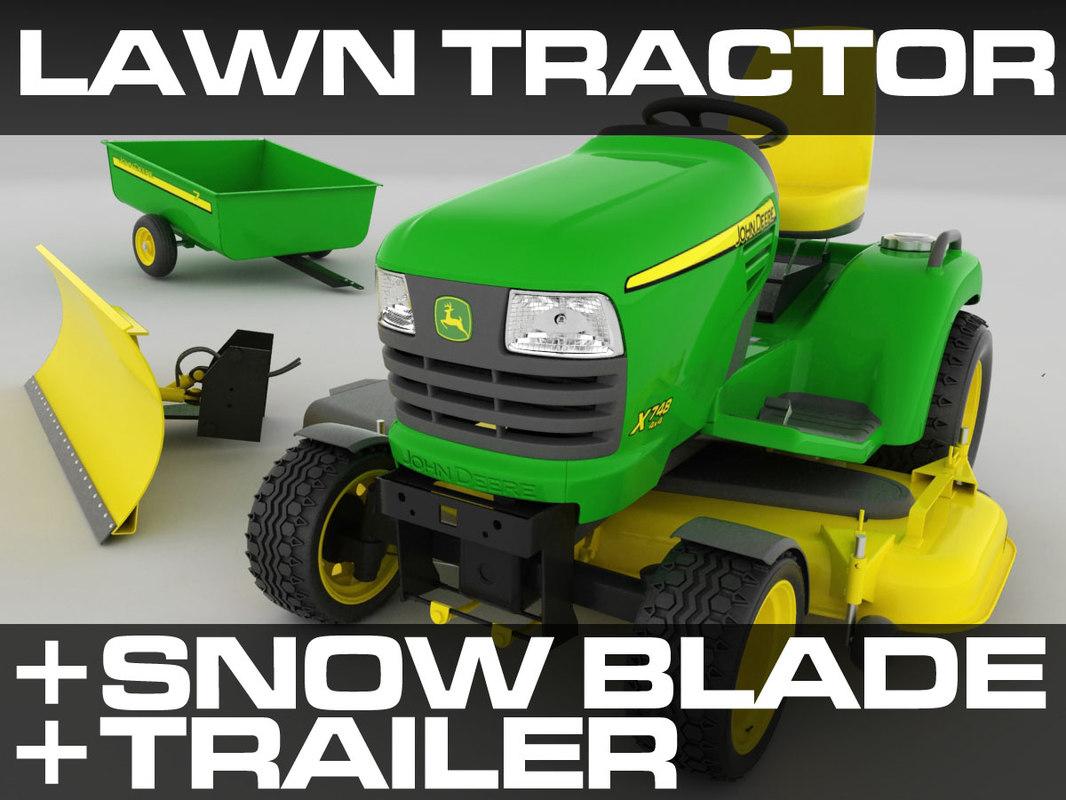 c4d riding lawn mower