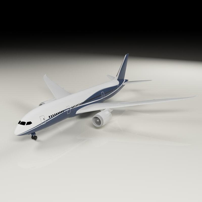 3d airplane 787 dreamliner