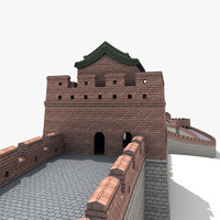 3d great wall china