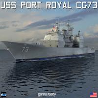uss port royal cg-73 3d 3ds