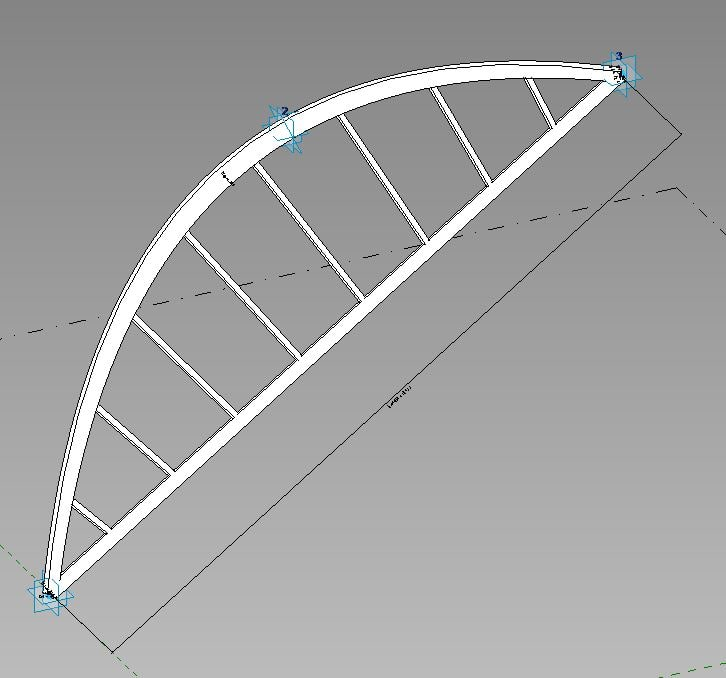 adaptive arch ribs 3d model