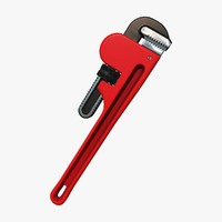 3d model adjustable pipe wrench