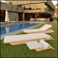 Outdoor Sun Lounger Furniture Set
