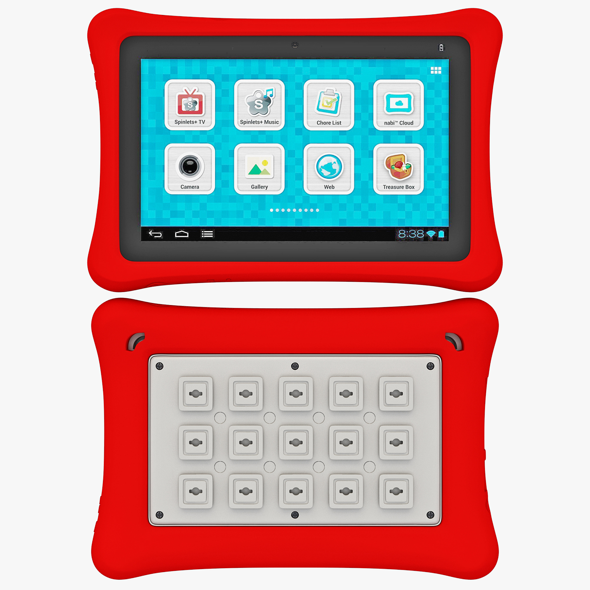 tablet fuhu nabi nabi2 3d model