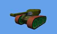 3d style tank model
