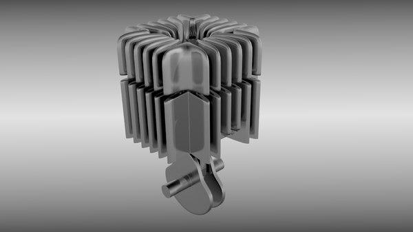 fbx stroke engine cylinder piston animation