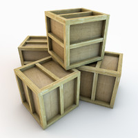 wooden crate 02 plank wood 3d c4d