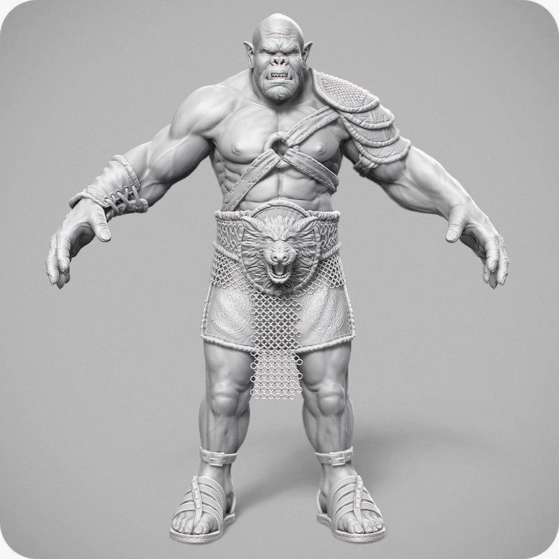 3ds orcs berserker fantasy character