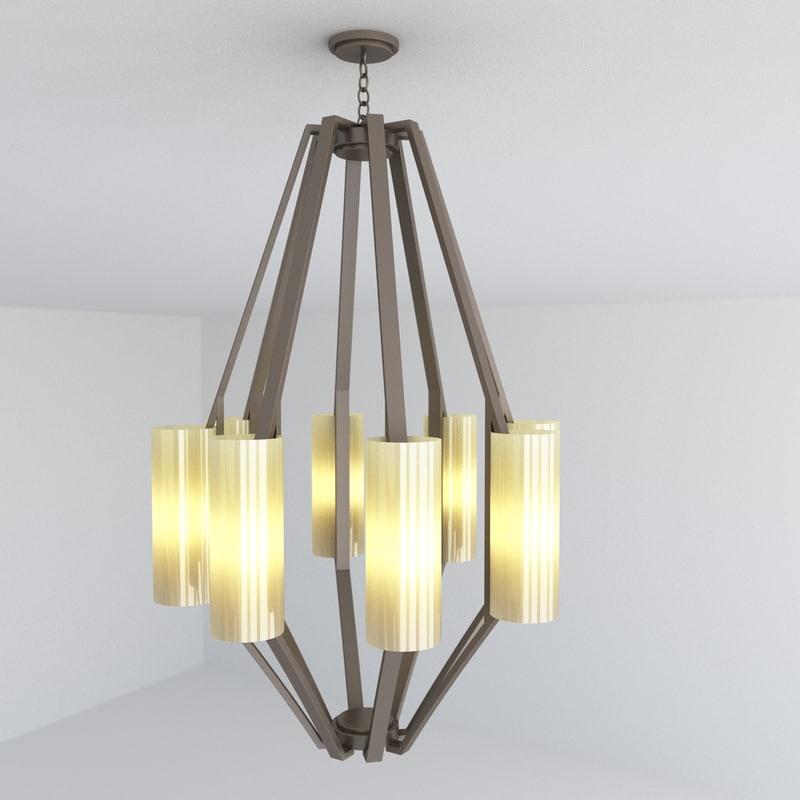 3d model of chandelier lights