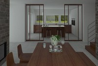Kitchen Interior Scene 3D