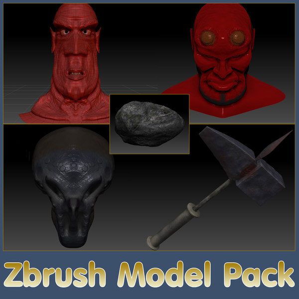 zbrush pack 3d 3ds