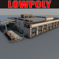 lowpoly Old Factory4