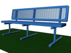 maya park bench prototype