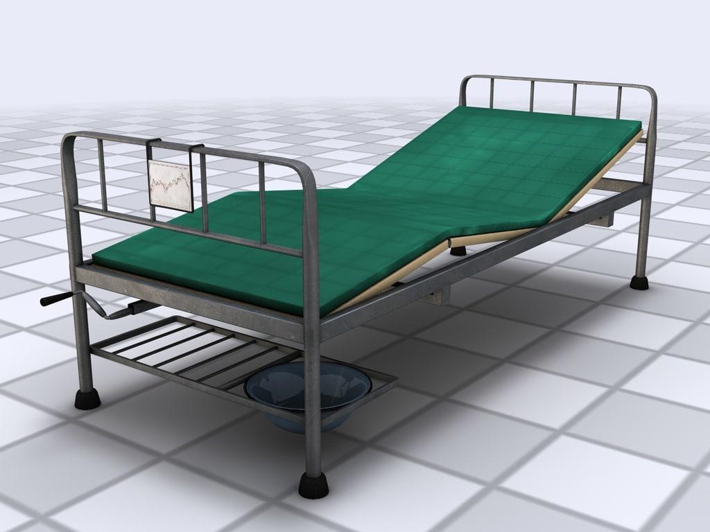 3d model of hospital bed mattress