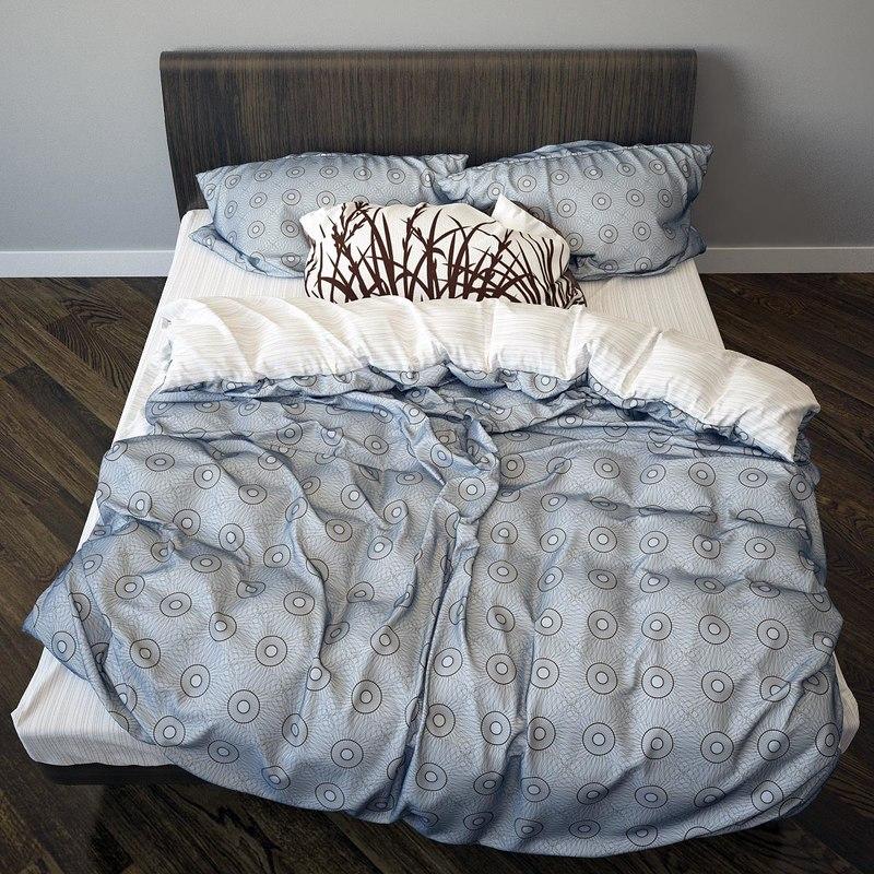photorealistic bed 2 3d max