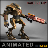 robot animations 3d max