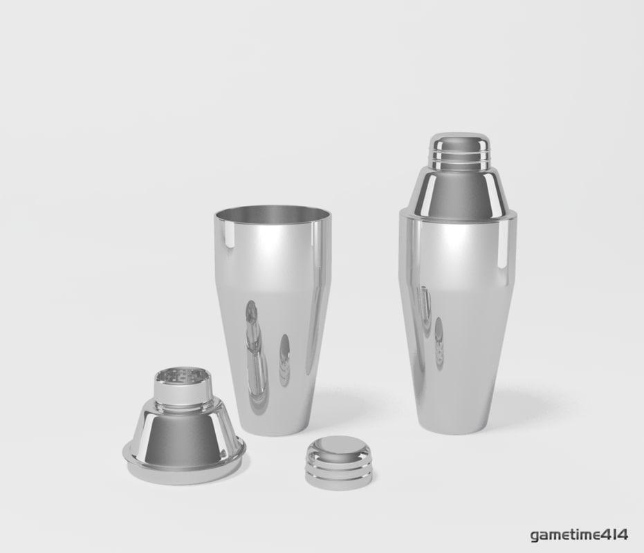 3d cocktail shaker
