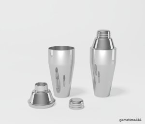 3d cocktail shaker