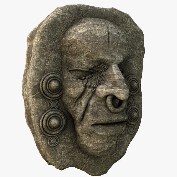 stone head 3d model