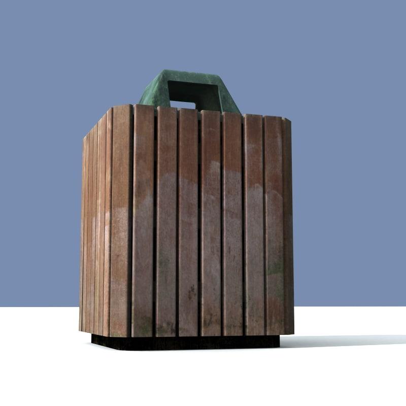 3d model of waste bin
