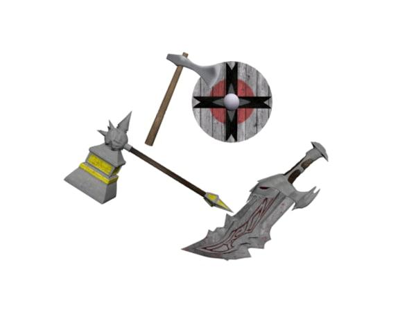 3d model weapons god war