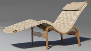 3d chaise lounge bruno model
