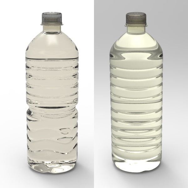 3d model water bottle