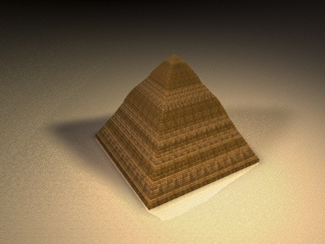3d pyramid desert skybox