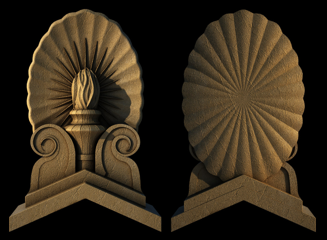 3d model decor moulding