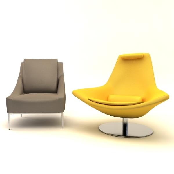 3ds max metropolitan armchair chair