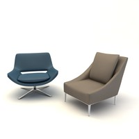 metropolitan armchair chair 3d 3ds