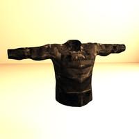 3d vest displacement character