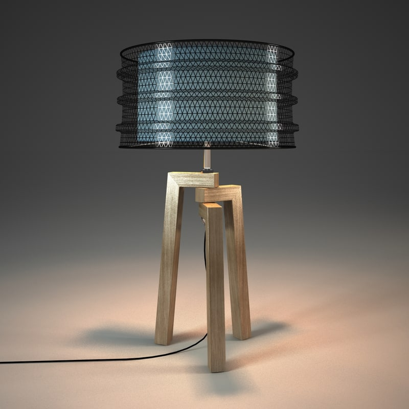 3d kare design wire tripod model