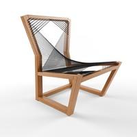 alexander mueller woven easy chair 3d max