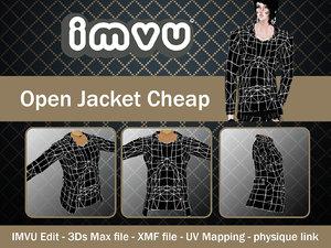 jacket open 3d 3ds
