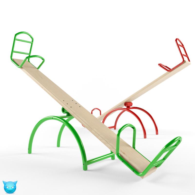 3d playground ride model