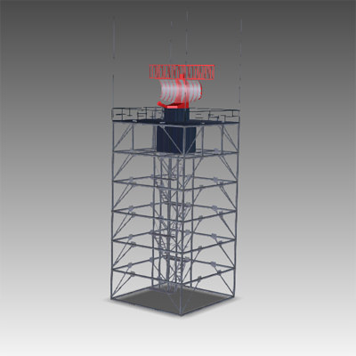 3d airport radar asr-11 model