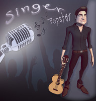 3d singer character model