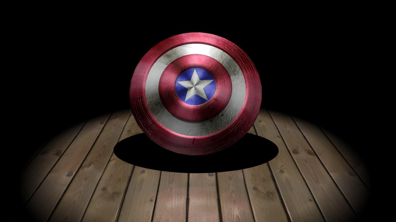 3d captain america shield