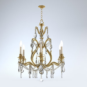 max crystorama 5575-ab-cl-s chandelier