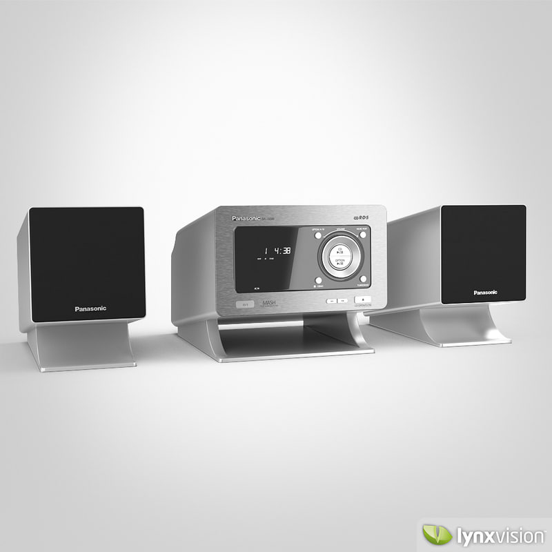 3d max panasonic cd stereo