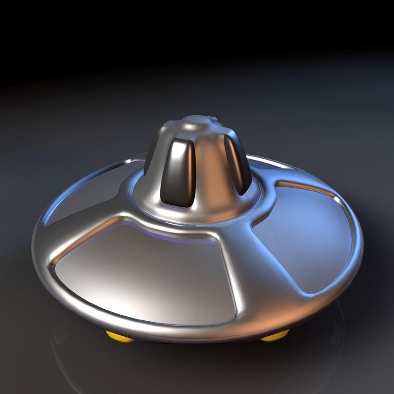 3d 3ds flying saucer alien