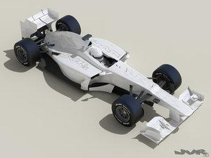 generic f1 race car 3d max